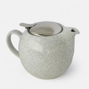 Afbeelding Crackle teapot white