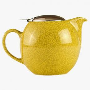Afbeelding Crackle teapot yellow