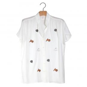 Afbeelding French Sleeve Blouse dog